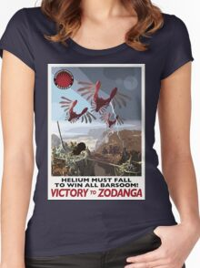 Helium Must Fall! Victory To Zodanga! Women's Fitted Scoop T-Shirt