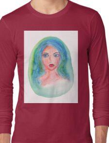 Fantasy Girl Watercolor Long Sleeve T-Shirt