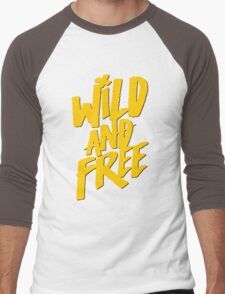Wild and Free - Cute Southern T shirt for Men and Women Men's Baseball ¾ T-Shirt