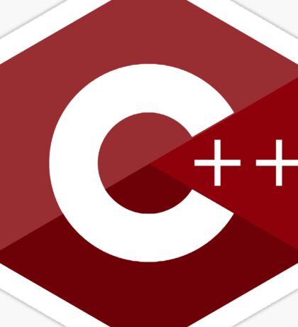 c++ c plus plus red language programming Sticker