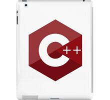 c++ c plus plus red language programming iPad Case/Skin