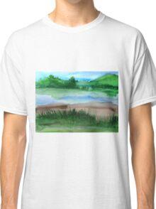 \Watercolor Landscape Classic T-Shirt
