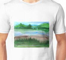 \Watercolor Landscape Unisex T-Shirt