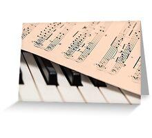 Piano and Notes Sheet Greeting Card