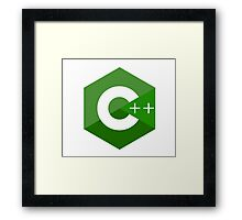 c++ c plus plus green language programming Framed Print