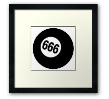 666 Ball Framed Print