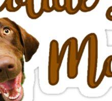 Chocolate Labs Matter Sticker