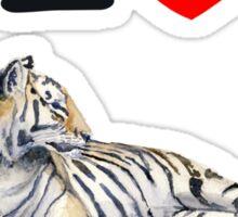 I love Tigers Sticker