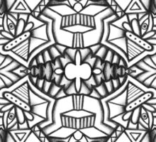 Abstract Symmetry (Black and White) Design 002 Sticker