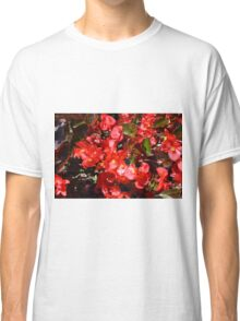 Natural texture with small red flowers Classic T-Shirt