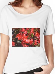 Natural texture with small red flowers Women's Relaxed Fit T-Shirt