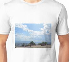 Landscape with the hills and cloudy sky of Assisi Unisex T-Shirt