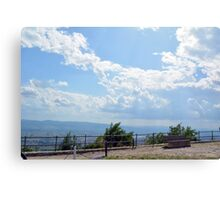 Landscape with the hills and cloudy sky of Assisi Canvas Print