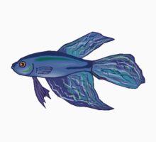 Blue Betta Fish T-Shirt