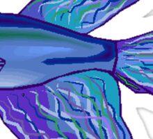 Blue Betta Fish Sticker