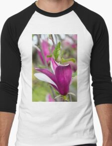 flowering magnolia Men's Baseball ¾ T-Shirt