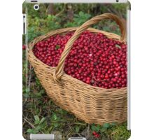 Fresh Cowberries in a Basket in the Forest iPad Case/Skin