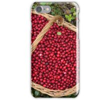 Fresh Cowberries in a Basket in the Forest iPhone Case/Skin