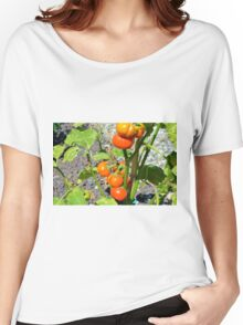Tomatoes growing in the garden Women's Relaxed Fit T-Shirt