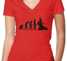 Original  Women's Fitted V-Neck T-Shirt