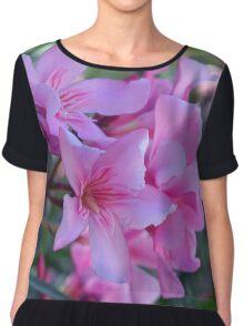 Purple delicate flowers Chiffon Top