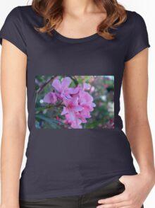 Purple delicate flowers Women's Fitted Scoop T-Shirt