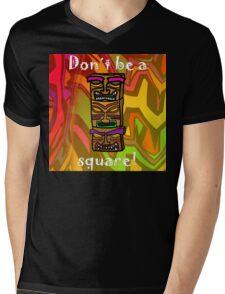 Tiki Squares Mens V-Neck T-Shirt