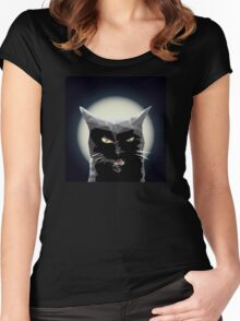 Black kitty Women's Fitted Scoop T-Shirt