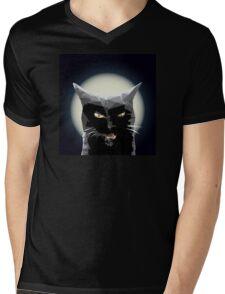 Black kitty Mens V-Neck T-Shirt
