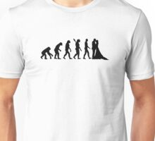 Evolution Wedding couple Unisex T-Shirt