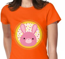 Pink Bunny Womens Fitted T-Shirt