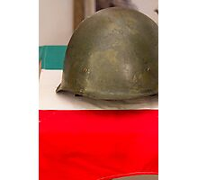 old helmet of war Photographic Print