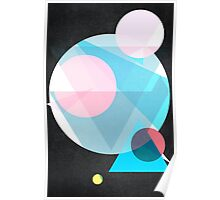 Geometric 1: Pink & Blue Poster