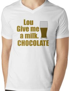 Lou Give Me A Milk. CHOCOLATE - Back To The Future Mens V-Neck T-Shirt