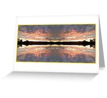 Sunset 700 Fractal B Greeting Card