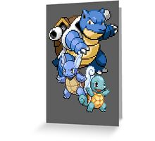 Squirtle Evolutions Greeting Card