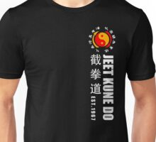 jeet kune do martial arts wing chun white text Unisex T-Shirt