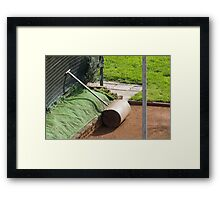 tool for tennis court Framed Print