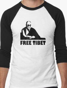 Free Tibet Men's Baseball ¾ T-Shirt