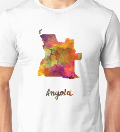 Angola in watercolor Unisex T-Shirt