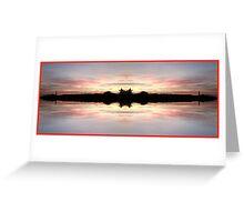 Sunset 724 Fractal A Greeting Card