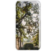 Sunset in the Reales Alcazares - Seville Spain iPhone Case/Skin