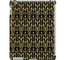 Elegantes schwarz-goldenes Art Deco Muster iPad Case/Skin