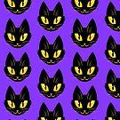 Little Black Cat (purple version) by RileyOMalley