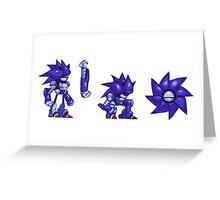 Mecha Sonic Retro Sprites Greeting Card