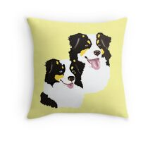 "Black Tri Aussie ""Pair to draw to"" Throw Pillow"