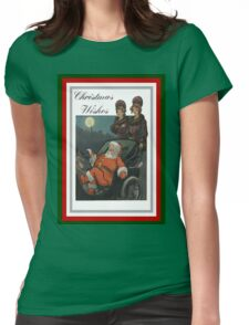 Vintage Christmas Vintage Puck Cover Womens Fitted T-Shirt