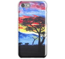 African sunset painting iPhone Case/Skin