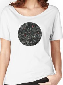 Wolf Pack Pattern Women's Relaxed Fit T-Shirt