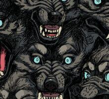 Wolf Pack Pattern Sticker